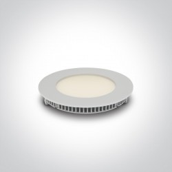 One Light Wpust LED biały przemysłowy płaski Fokas 2 10108FA/W/C