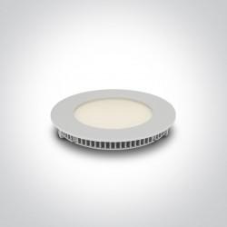One Light Wpust LED biały przemysłowy płaski Fokas 2 10108FA/W/W
