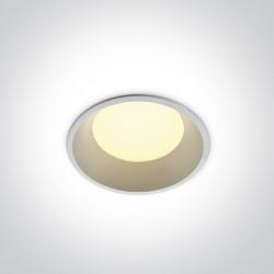 One Light Oprawa LED do łazienki biała duża moc Stegna 10109FD/W/W IP54