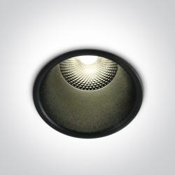 One Light Wpust sufitowy czarny uniwersalny Alektora 10110FD/B/W