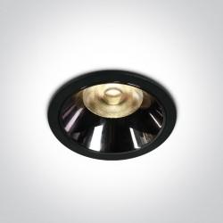 One Light Wpust LED czarny chrom Valtos 10112DC/B/W
