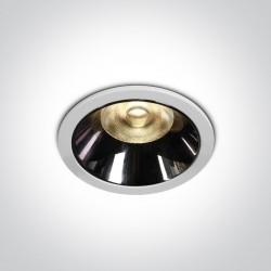 One Light Wpust LED biały czarny chrom Valtos 10112DC/W/W