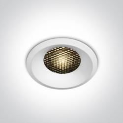 One Light Wpust LED biały plaster miodu Kidasi 10112DH/W/W
