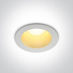 One Light Wpust LED biały mosiądz uniwersalny Sarola 2 10112ED/W/BS/W