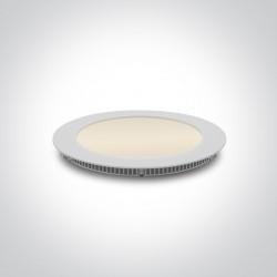 One Light Wpust LED wąski biały biuro przemysł Fokas 3 10112F/W/EW