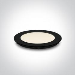 One Light Wpust LED wąski czarny biuro przemysł Fokas 3 10112F/A/B/C