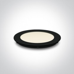One Light Wpust LED wąski czarny biuro przemysł Fokas 3 10112F/A/B/W