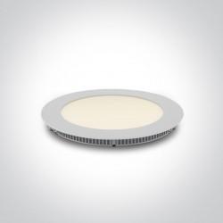 One Light Wpust LED wąski biały biuro przemysł Fokas 3 10112F/A/W/W