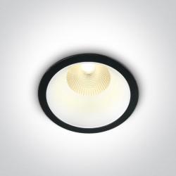 One Light Wpust LED czarny wymienny środek Erimi 10112L/B/W