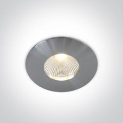 One Light Wpust LED do łazienki aluminiowy Alasa 10112P/AL/W IP64