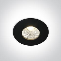 One Light Wpust LED do łazienki czarny Alasa 10112P/B/W IP64