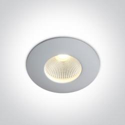 One Light Wpust LED do łazienki biały Alasa 10112P/W/C IP64