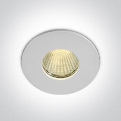 One Light Wpust LED do łazienki biały Alasa 10112P/W/W IP64