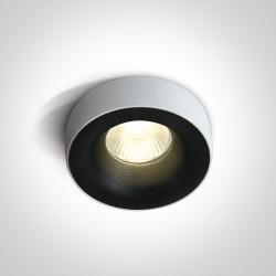 One Light Wpust LED czarny wymienna oprawka Sidiro 10112R/B/W