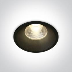 One Light Wpust sufitowy czarny Kalivia 10112TD/B/W