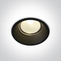 One Light Wpust do łazienki czarny Likofos 10112TP/B/W IP44