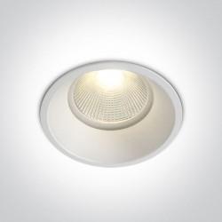 One Light Wpust do łazienki biały Likofos 10112TP/W/EW IP44