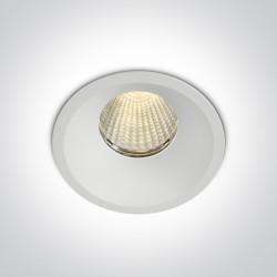 One Light Wpust do łazienki biały Likofos 10112TP/W/W IP44