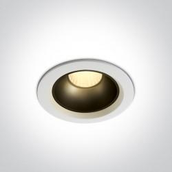 One Light Wpust LED biały czarny mosiężny zestaw Marla 2 10112Z/W/W