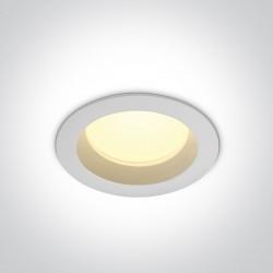 One Light Wpust LED do łazienki biały 13W Pomos 2 10113B/W/W IP54