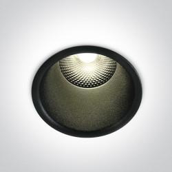 One Light Lampa LED wpust czarny 15W Alektora 2 10115FD/B/W