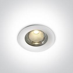 One Light Lampa LED biała do łazienki 15W Symi 2 10115G/W/W IP65
