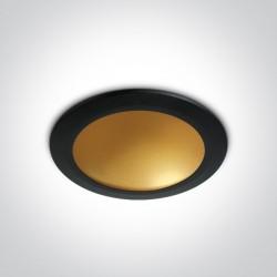 One Light Lampa LED czarny mosiądz 16W Nata 2 10116FD/B/BS