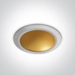 One Light Lampa LED biały mosiądz 16W Nata 2 10116FD/W/BS