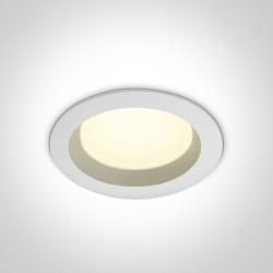 One Light Lampa LED biała do łazienki 18W Pomos 3 10118B/W/C IP54