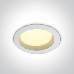 One Light Lampa LED biała do łazienki 18W Pomos 3 10118B/W/W IP54