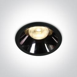 One Light Lampa LED czarna chrom 18W Mosfiloti 10118DC/B/W