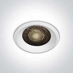 One Light Lampa LED biała plaster miodu 18W Alambra 10118DH/W/W