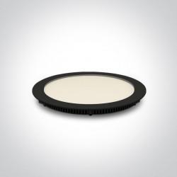 One Light Lampa wpust LED czarny smukły 18W Fokas 4 10118FA/B/C