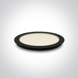 One Light Lampa wpust LED czarny smukły 18W Fokas 4 10118FA/B/W