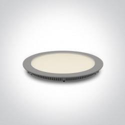 One Light Lampa wpust LED szary smukły 18W Fokas 4 10118FA/G/W