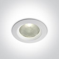 One Light Oprawa LED biała wpuszczana Peplos 2 10120CA/W/C