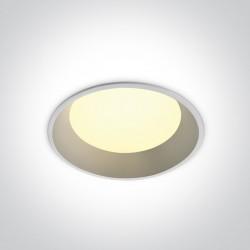 One Light Wpust LED biały do łazienki Stegna 2 20W 10120FD/W/C IP54