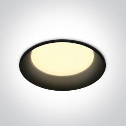 One Light Wpust lampa LED czarna 22W Maronas 2 10122D/B/W