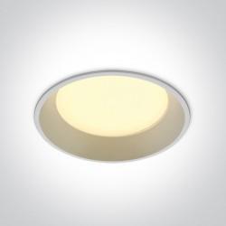 One Light Wpust lampa LED biała 22W Maronas 2 10122D/W/W