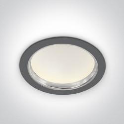 One Light Wpust lampa LED szara uniwersalna 24W Tavri 2 10124G/C IP44