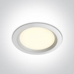 One Light Wpust lampa LED biała 24W Odu 4 10124T/W/W
