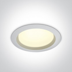 One Light Lampa LED biała do łazienki 25W Pomos 4 10125B/W/C IP54