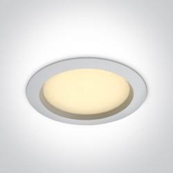 One Light Lampa LED biała do łazienki 25W Pomos 4 10125B/W/W IP54