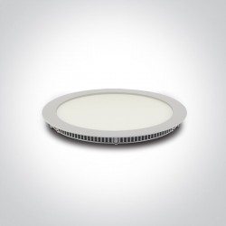 One Light Lampa wpust LED do biura biała Fokas 5 10130FA/W/D