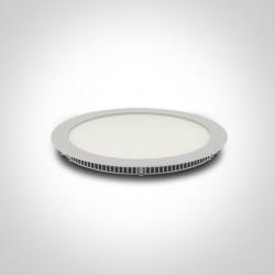One Light Lampa wpust LED do biura biała Fokas 5 10130FA/W/W