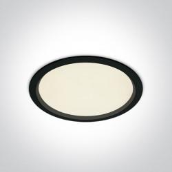 One Light Lampa wpust LED do biura czarna Perama 10130U/B/C IP44