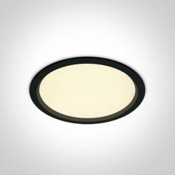 One Light Lampa wpust LED do biura czarna Perama 10130U/B/W IP44