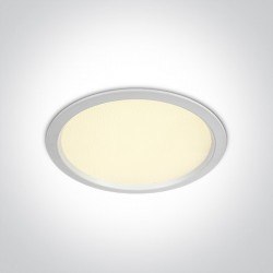 One Light Lampa wpust LED do biura biała Perama 10130U/W/W IP44