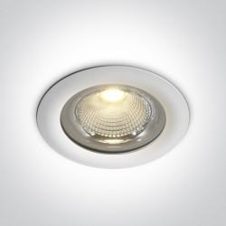One Light Wpust lampa biała LED na zewnątrz Apliki 2 10150G/W/C IP65