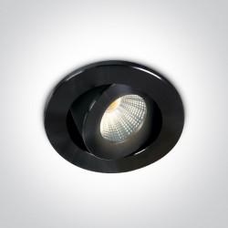 One Light Lampa LED mini do salonu czarna Psari 11103B/B/W